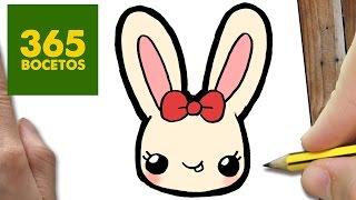 Como Dibujar Conejo Kawaii Paso A Paso Dibujos Kawaii Faciles