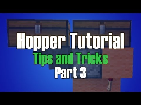 Minecraft Hopper Tutorial Part 3 - Moving Items