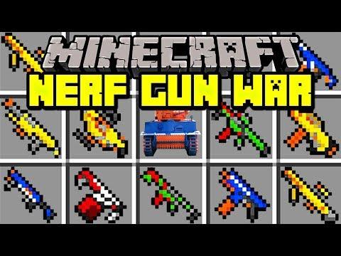 Minecraft NERF GUN WAR MOD! | ZOMBIE APOCALYPSE NERF WAR BATTLE! | Modded Mini-Game