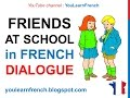 Download Video French Lesson 64 - Friends talking at school - Informal dialogue conversation + English subtitles 3GP MP4 FLV