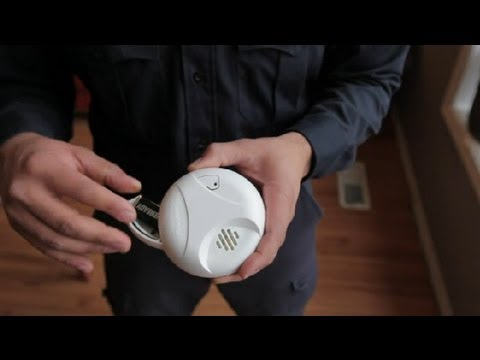 How to Change the Battery in Hard-Wired Smoke Alarms : Home Safety