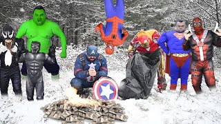 Superheroes In Cold Weather