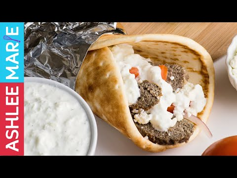 How to make homemade Lamb Gyros with Tzatziki sauce recipes