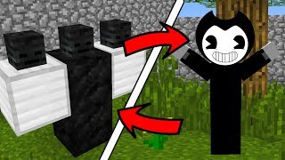 How To Spawn SCARY Bendy in Minecraft  (Bendy and The Ink Machine Addon)