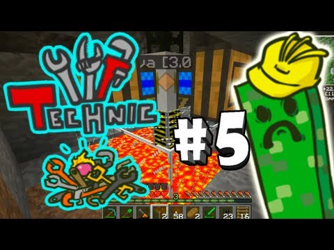 Lets Play Technic (EP5) - Pumping Lava Like A Boss