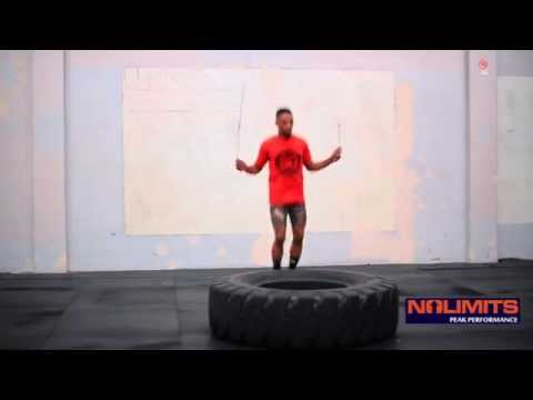 How to Jump Rope to Build Calf and Hamstring Muscle on Tire