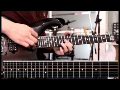 Tutorial Melody canon Rock part 6 with Tab | slow motion