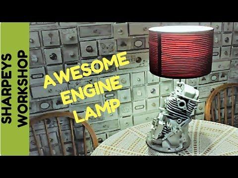 Diy Engine Lamp from scrap