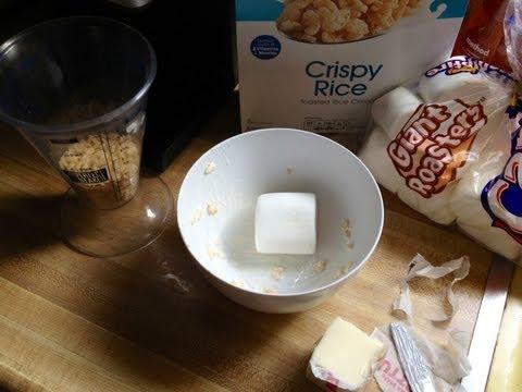 Single serve microwave Rice Krispy treats!