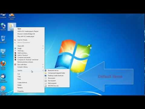 How to Customise Send To Menu in Windows 7