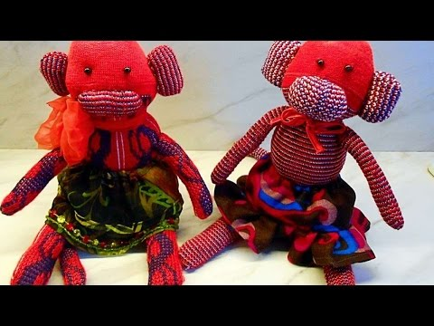 How To Make A Pair Of Cute Sock Monkeys Diy Crafts Tutorial Guidecent