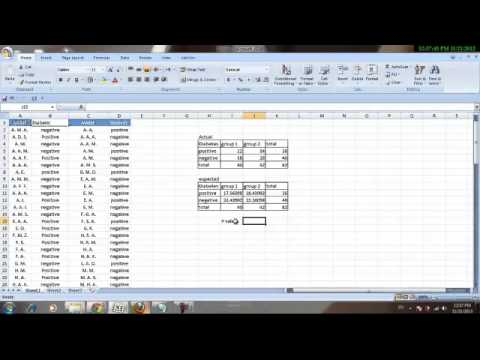 How to do a Chi square test and a ROC curve on excel