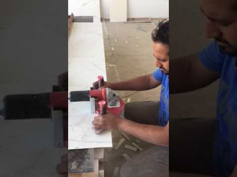 How to cut 45 degree large ceramics tile 6mm - 1.5m x 3m (1/4