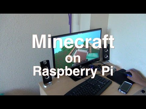 Minecraft running on raspberry pi B+