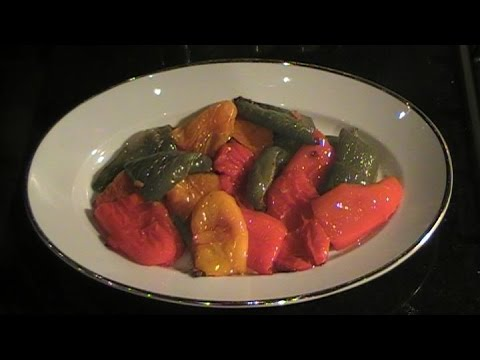 Roasted Bell Peppers with Garlic and Olive Oil