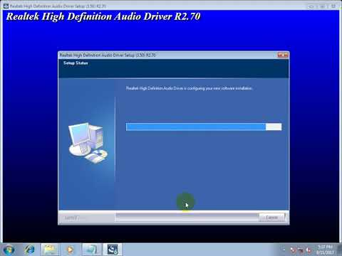 Installing audio driver on your windows