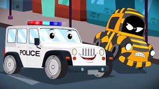 Police Car | Car Cartoon Videos for Babies | Nursery Rhymes And Kids Songs
