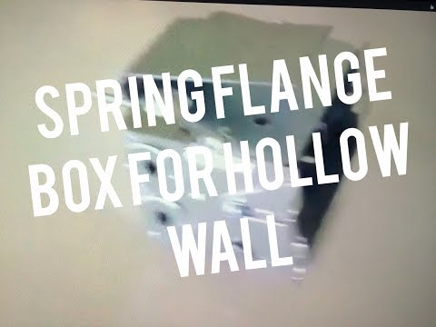 Install  Electrical Box Spring Flange in Existing Drywall, Lathe Plaster Wall