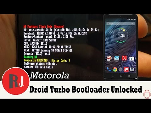 how to root and unlock motorola droid turbo xt1254 bootloader with