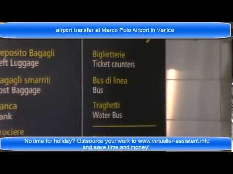 airport transfer at Venice Marco Polo airport