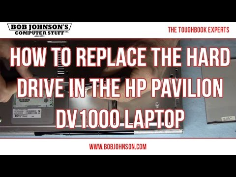 How to replace the Hard drive in the HP Pavilion DV1000 Laptop