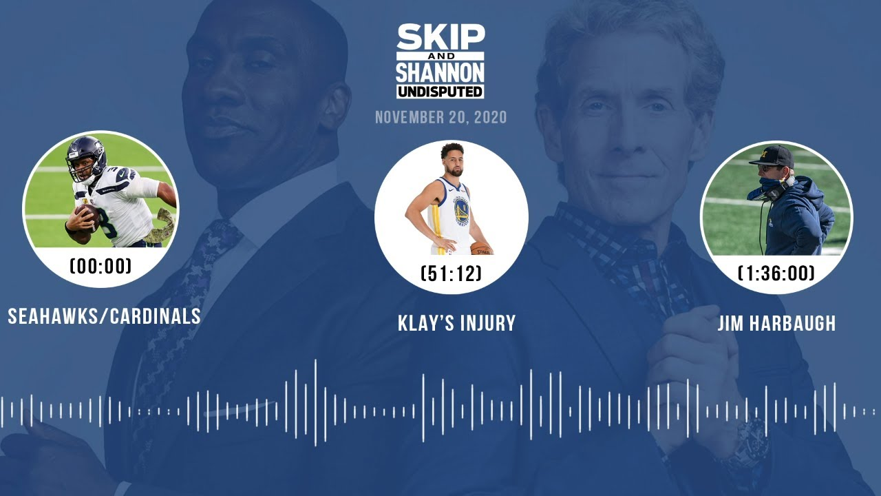 Seahawks/Cardinals, Klay's injury, Jim Harbaugh (11.20.20) | UNDISPUTED Audio Podcast