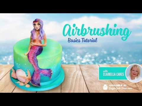 Airbrush tutorial with clairella cakes promo