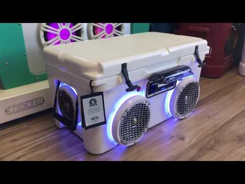 YETI Bluetooth Cooler Speaker 4 Rockford Speakers Sony Stereo Cooler