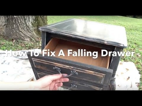DIY Hack Fix a Falling Drawer - Drawer Falling out & Tilting down? Quck Temporary Fix