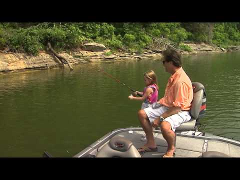 Fishing with Kids and crickets.