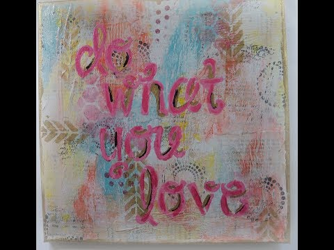 Easy Mixed Media Canvas/ How make a mixed media Canvas/  Real Time