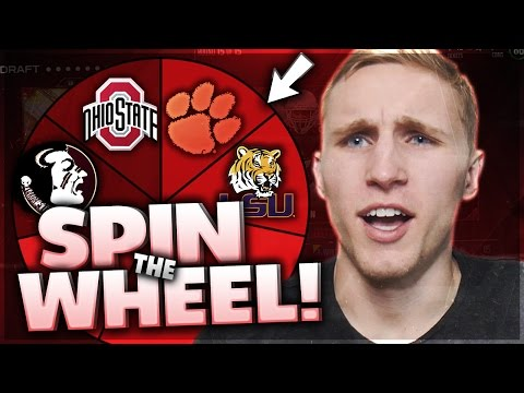 SPIN THE WHEEL OF COLLEGE TEAMS! Madden 17 Squad Builder