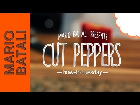 How to Cut Up Bell Peppers
