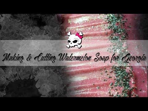 Making & Cutting Watermelon Soap