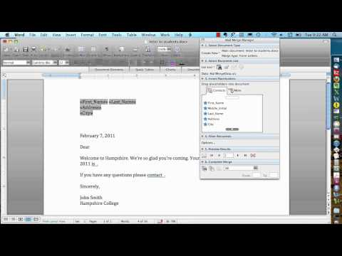 Mail Merge for Mac - Form Letters