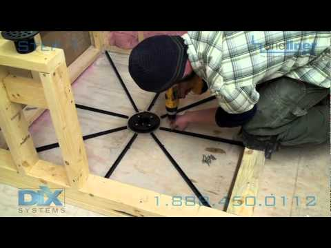 How to Prep floor, Pre-Pitch, Mortar Installation. Step 1 in Dix Systems OneLiner