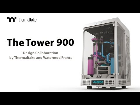 Thermaltake The Tower 900 E-ATX Vertical Super Tower Chassis Product Animation
