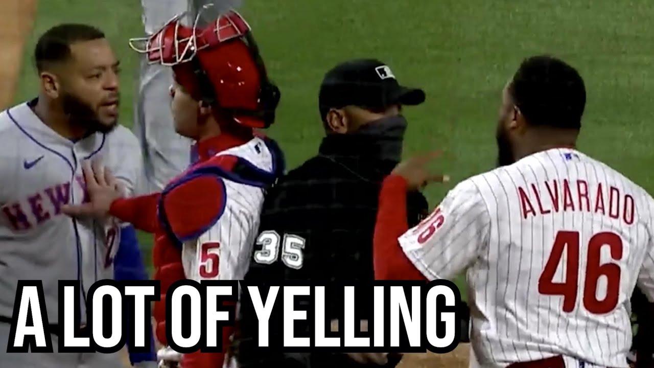 Dom Smith and José Alvarado exchange words after strikeout, a breakdown