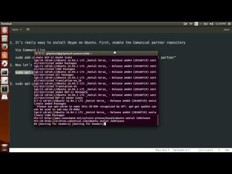 How to Install Skype 4.3 On Ubuntu 16.04 LTS