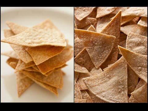 Baked Corn Tortilla Chips NO OIL + Crispy! #Vegan