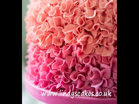 How to make ombre sugar ruffles for your cakes and cookies by cake designer lindy smith