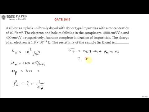 GATE 2015 ECE Resistivity of N Type semiconductor