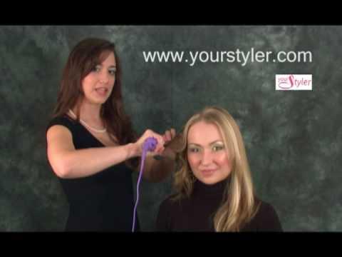 Hair straightener Toronto-How to make hollywood curls with tourmaline straightener