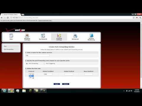 How to port foward on Verizon Fios