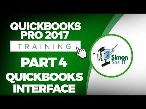QuickBooks Pro 2017 Training Part 4: Learn the QuickBooks Interface