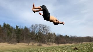 Practicing Flips On The Grass