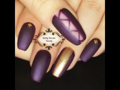 Nail Art | Matte Purple Nails | Gel Nail Polish