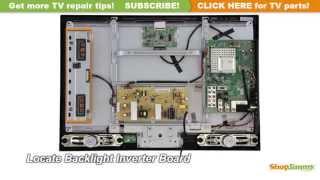 Toshiba Tv Repair Replacing 26av5 Backlight Inverter Board How To Fix