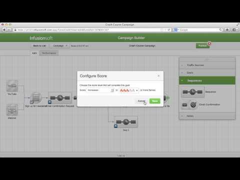 Infusionsoft (Crash Course) - Lesson 4: Campaign Builder