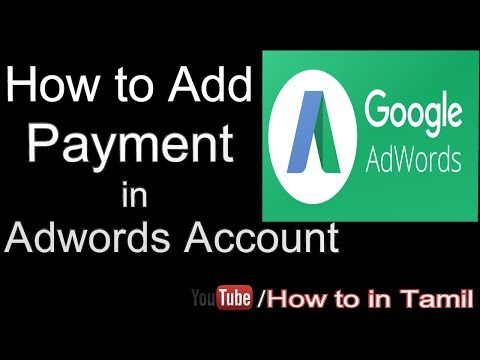 How to Add Payment in Adwords Account - Google Adwords